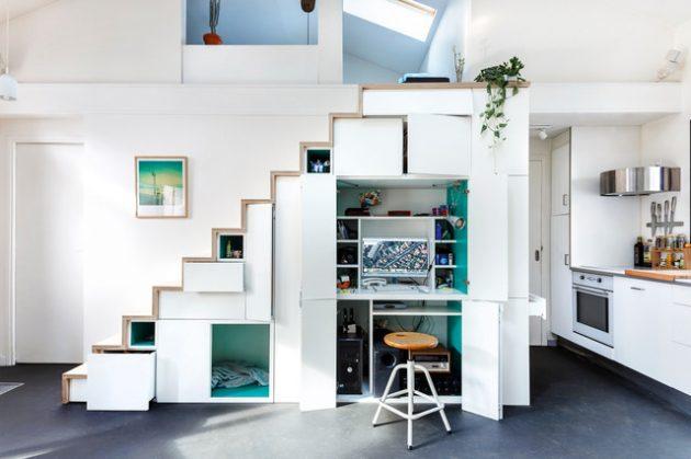 16 Contoh Cara Memanfaatkan Bawah Tangga Interior Rumah