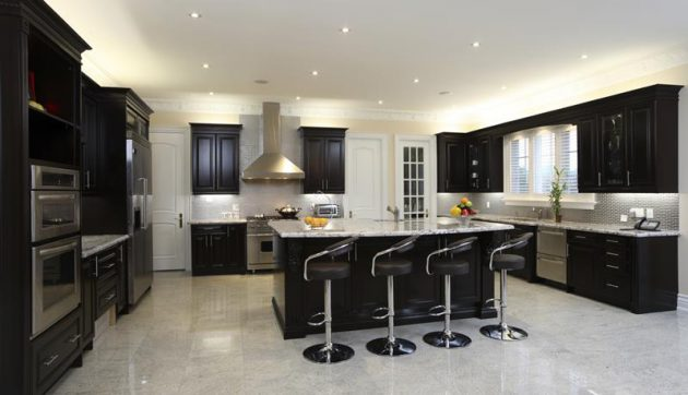 17 Desain Warna Lantai Dapur Dan Kitchen Cabinet Terbaru
