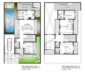 Gambar Rumah Minimalis Modern Beserta Denah Kolam Renang